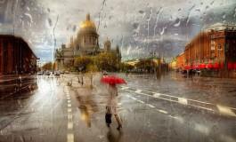 San Petersburgo bajo la lluvia - puro romanticismo