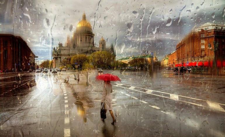 San Petersburgo bajo la lluvia – puro romanticismo
